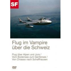 Flug im Vampire über die Schweiz